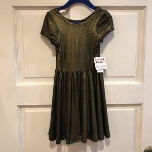 Dot Dot Smile Lucy 2T Gold Elegant Dress Lularoe